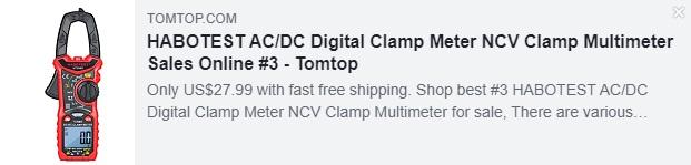 HABOTEST AC / DC 디지털 클램프 미터 NCV 클램프 멀티 미터 가격 : $ 27.99