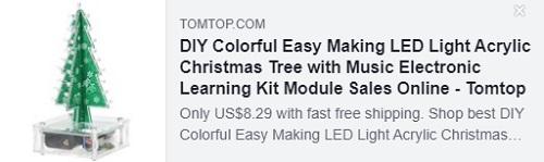 DIY多彩轻松制作LED灯亚克力圣诞树与音乐电子学习套件模块Price:$ 8.29