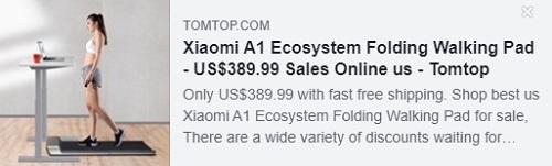 小米A1生态系统可折叠行走垫价格:$ 389.99从美国仓库交付,免费送货