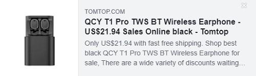 QCY T1 Pro TWS BT Kablosuz Kulaklık Fiyatı: 21.94 $